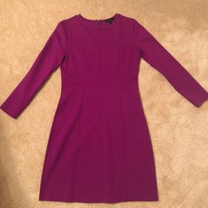 J.Crew Long-Sleeve Sheath Dress - Bright Plum